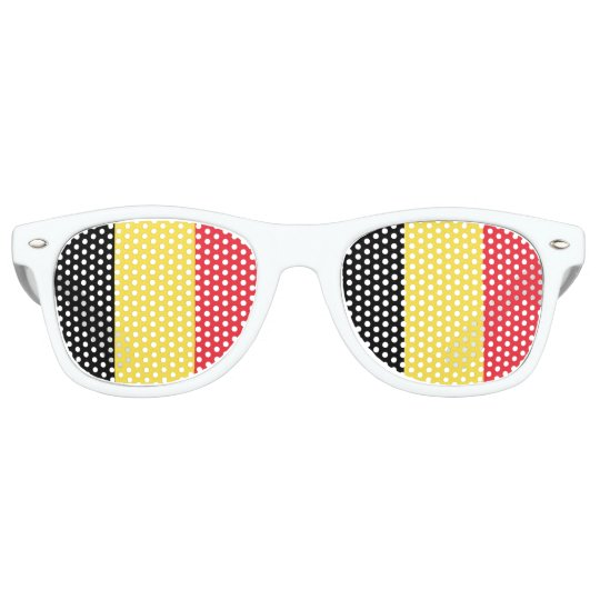 Belgium Flag Retro Sunglasses