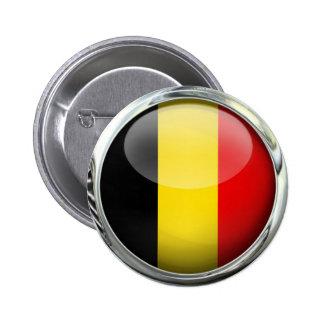 Belgium Flag Round Glass Ball 2 Inch Round Button