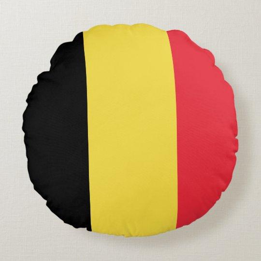 Belgium Flag Round Pillow