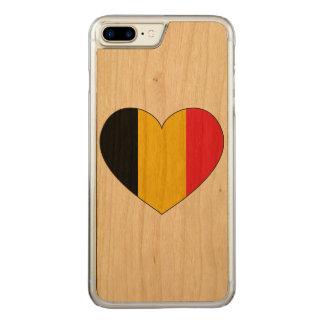 Belgium Flag Simple Carved iPhone 8 Plus/7 Plus Case