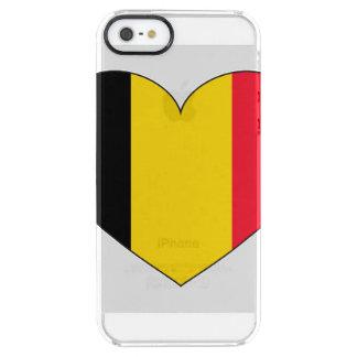 Belgium Flag Simple Clear iPhone SE/5/5s Case