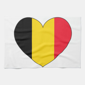 Belgium Flag Simple Kitchen Towel