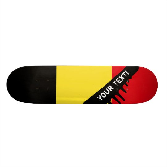Belgium Flag Skateboard