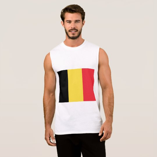 Belgium Flag Sleeveless Shirt