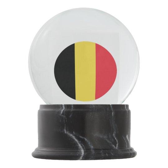 Belgium Flag Snow Globe