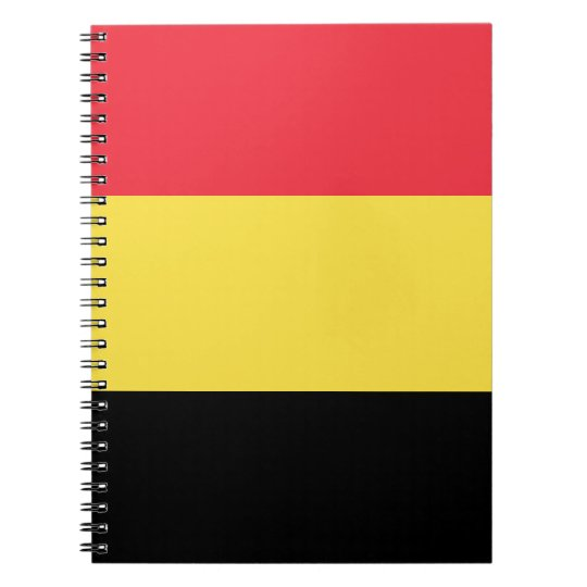 Belgium Flag Spiral Notebook