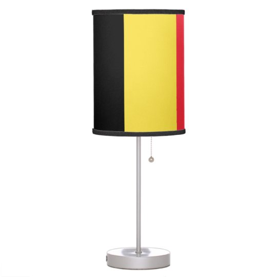Belgium Flag Table Lamp