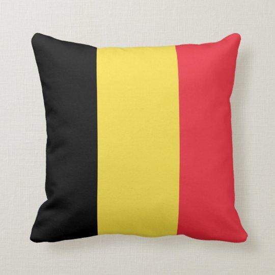Belgium Flag Throw Pillow