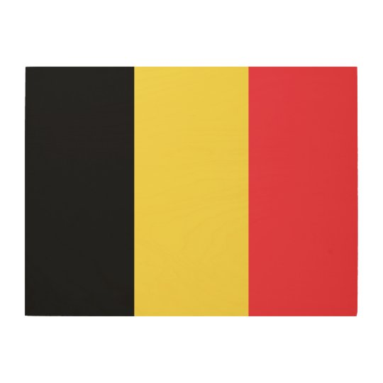 Belgium Flag Wood Wall Art