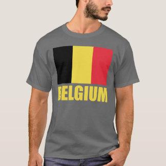 Belgium Flag Yellow Text T-Shirt