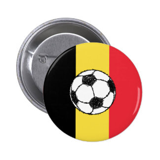 Belgium Football 2 Inch Round Button