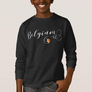 Belgium Heart Tee Shirt, Belgian Flag