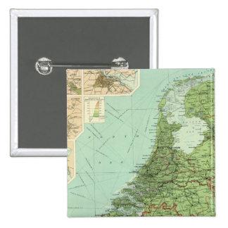 Belgium & Holland 2 Inch Square Button