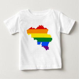 Belgium LGBT Flag Map Baby T-Shirt
