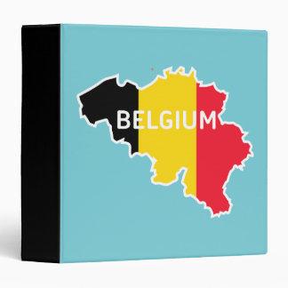 Belgium Map and Flag 3 Ring Binder