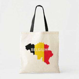 Belgium Map and Flag Tote Bag