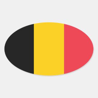 Belgium National Flag Oval Sticker