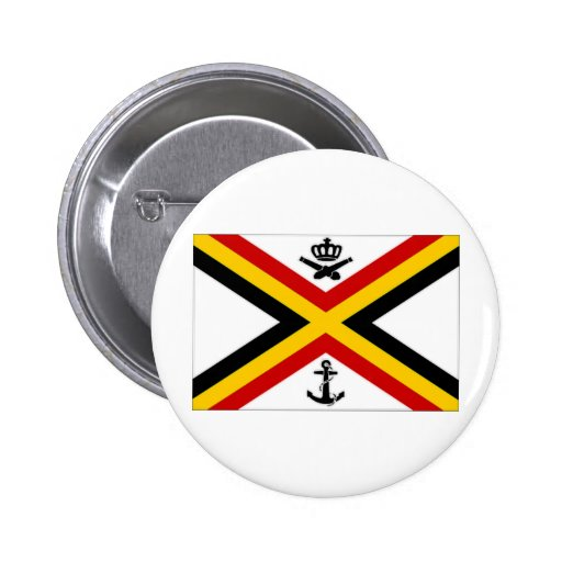 Belgium Naval Ensign Flag Pinback Button