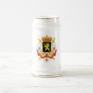 Belgium Official Coat Of Arms Heraldry Symbol Beer Stein