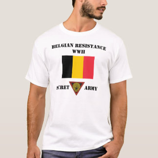 Belgium Resistance Secret Army T-Shirt