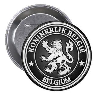 Belgium  Round Emblem 3 Inch Round Button