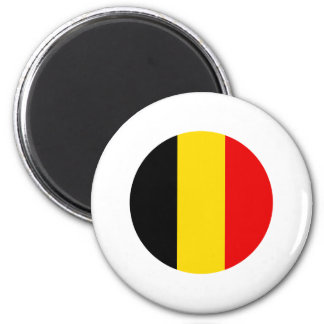 Belgium Round Flag Design Magnet