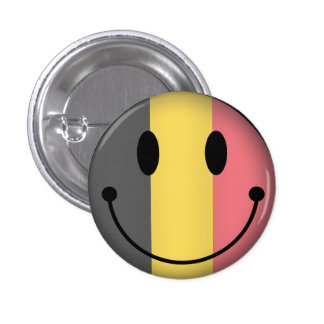Belgium Smiley 1 Inch Round Button
