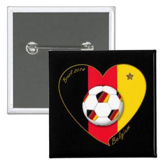 """""""BELGIUM"""" Soccer 2014 and Belgian Football Team Buttons"""