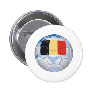 Belgium Soccer Pinback Button