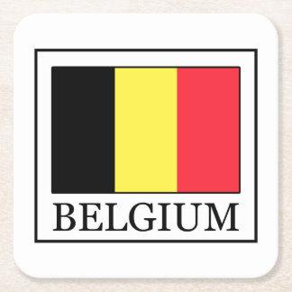 Belgium Square Paper Coaster