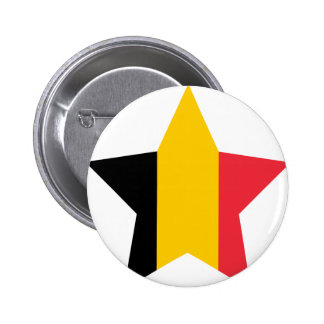 Belgium Star Pinback Buttons