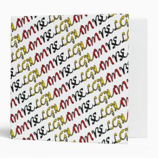 Belgium Typography Country Belgian Flag Colors Vinyl Binder