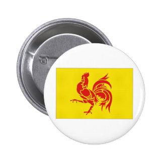 Belgium Walloon Region Flag Button