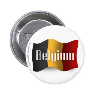 Belgium Waving Flag Pin
