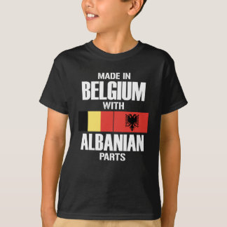 Belgium with albanian PARTS T-Shirt
