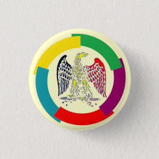 Belgium without borders 1 inch round button
