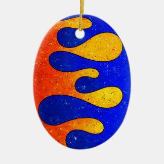 Belgofimo V1 - crazy drops Ceramic Oval Ornament