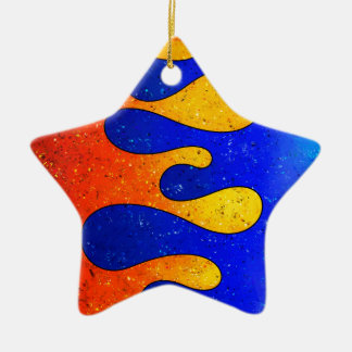 Belgofimo V1 - crazy drops Ceramic Star Ornament