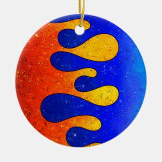 Belgofimo V1 - crazy drops Round Ceramic Ornament