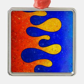 Belgofimo V1 - crazy drops Silver-Colored Square Ornament