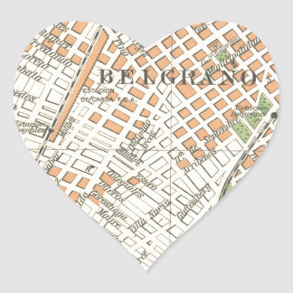 Belgrano by Stereo Bene F.C. Heart Sticker