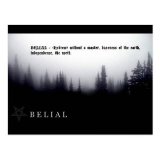 BELIAL POSTCARD