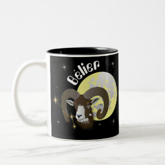 Bélier 21 Mars outer 20 avril Tasses Two-Tone Coffee Mug
