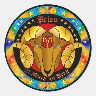 Bélier Zodiac-V-1 Set-1 Sticker Rond