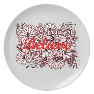 Believe 3 plate