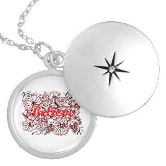 Believe 3 silver plated necklace
