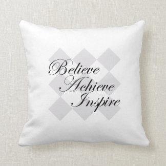 Believe Achieve Inspire pillow