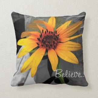 Believe...Achieve. Sunflower American MoJo Pillows