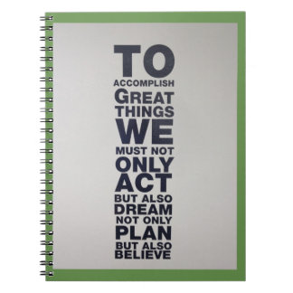 believe act notebook