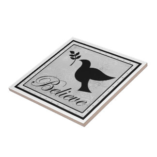Believe and Peaceful Dove Tile